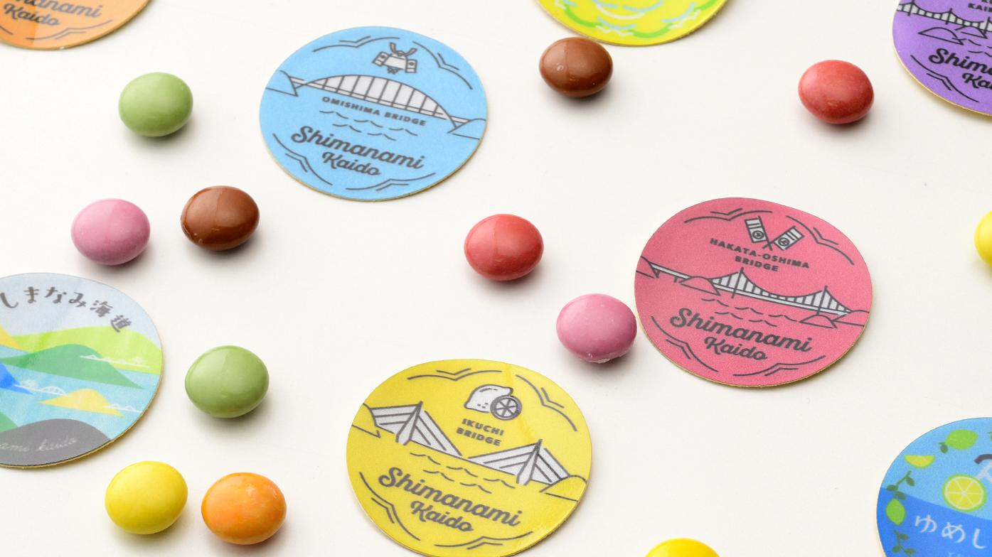 フルタ製菓株式会社 しまなみわなげチョコレート ステッカー